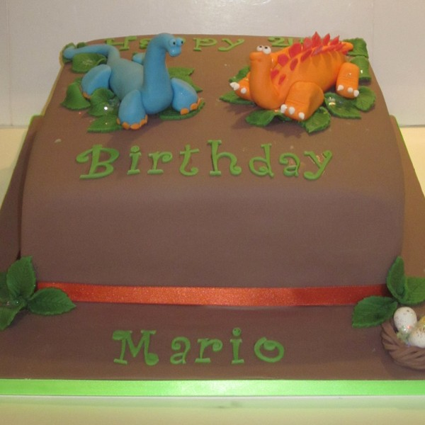 One Tier Dinosaur Birthday Cake Neo Cakes