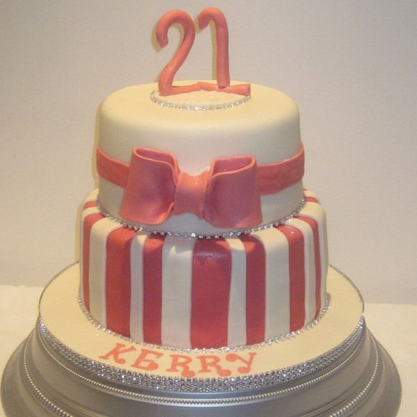 2 tiered birthday cake for girls
