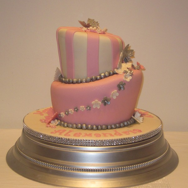 Two Tier Topsy Turvy Birthday Cake Neo Cakes
