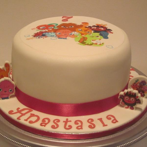 One Tier Moshi Monster Birthday Cake Neo Cakes