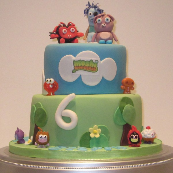 Two Tier Moshi Monster Birthday Cake Neo Cakes