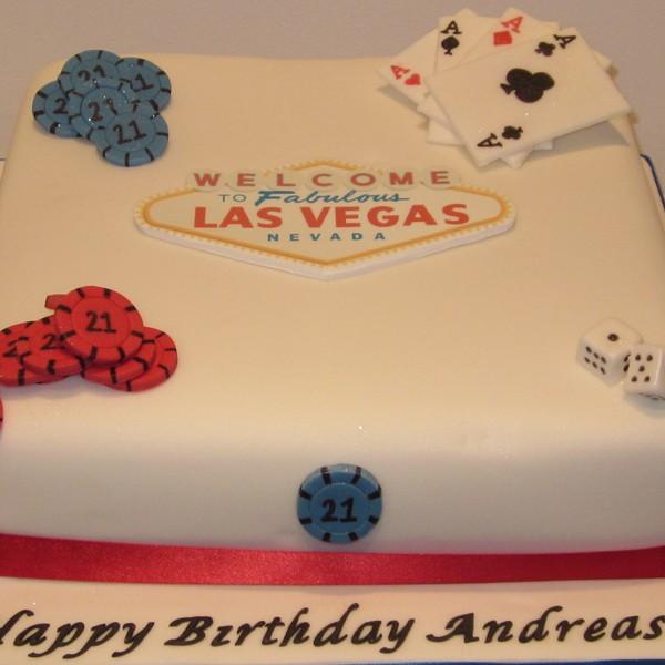 One Tier Las Vegas Casino Birthday Cake Neo Cakes