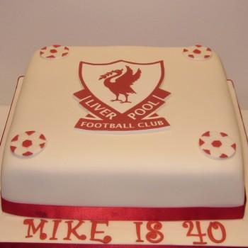 One Tier Liverpool Football Birthday Cake