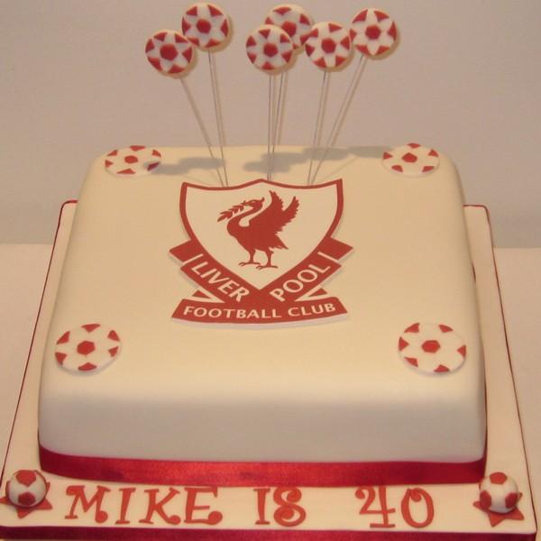 One Tier Liverpool Football Birthday Cake Neo Cakes
