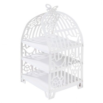 Bird Cage 3 Tier Cup Cake Stand
