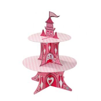 Princess Castle 2 Tier Cup Cake Stand