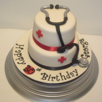 Two Tier Doctors Birthday Cake Neo Cakes