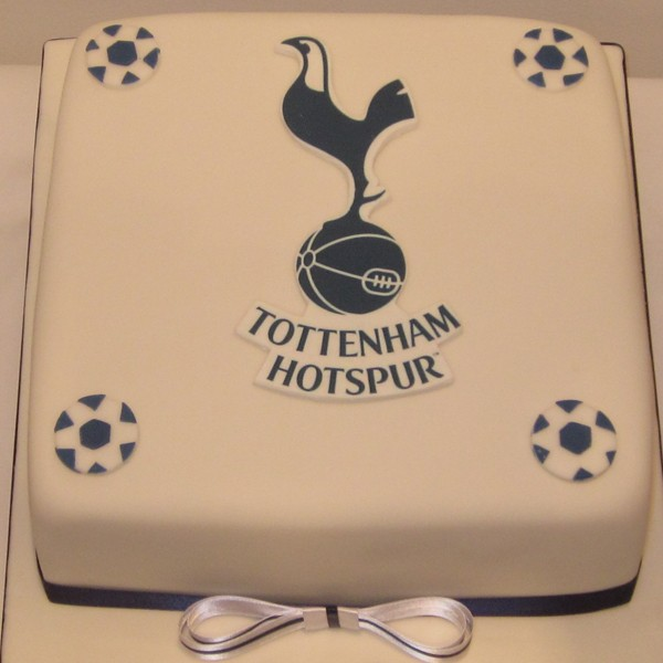 One Tier Tottenham Football Birthday Cake Neo Cakes