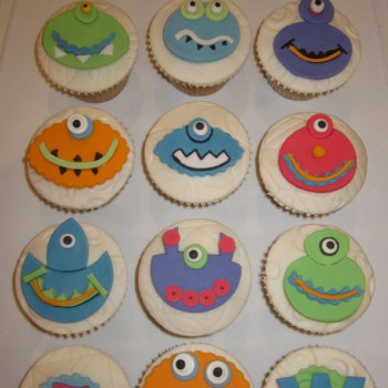 Mini Monster Themed Cupcakes