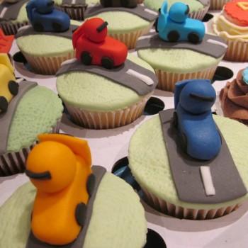 Go-Kart & Track Themed Cupcakes