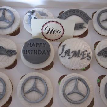 Mercedes Benz & Porsche Themed Cupcakes